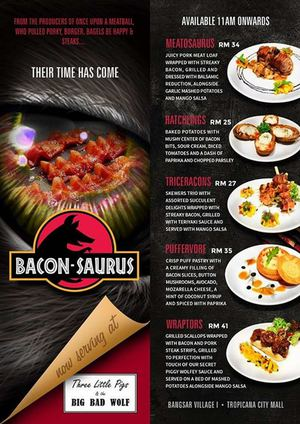 Introducing The Latest Mouth Watering Dishes With Bacons At Three Little Pigs The Big Bad Wolf67790 67790