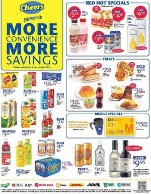 More Convenience More Savings At Cheers Offers Valid From June 2 To July 6 2015 67825