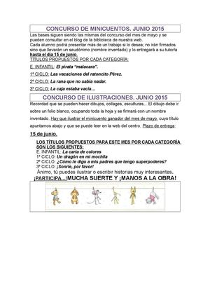 Convocatoria Junio