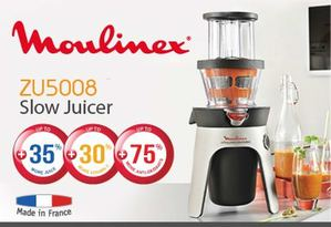 Get The Zu5008 Slow Juicer Now Available At Moulinex While Stocks Last67947 67947