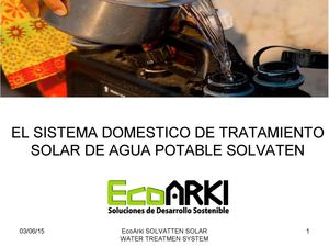 SOLVATTEN: SOLAR  WATER TREATMENT SOLUTION IN PERU