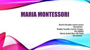 Cartilla Maria Montessori