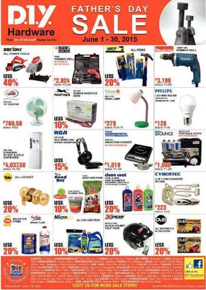 Fathers Day Sale At Diy Hardware Offers Valid From June 1 30 201568026 68026