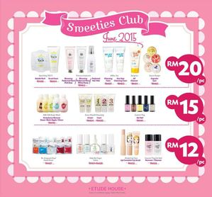 Sweeties Club June Promotions At Etude House Valid Until 25 June 201568063 68063