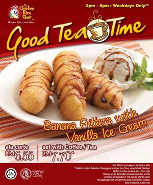 Have A Good Tea Time With Banana Fritters With Vanilla Ice Cream At The Chicken Rice Shop68075 68075