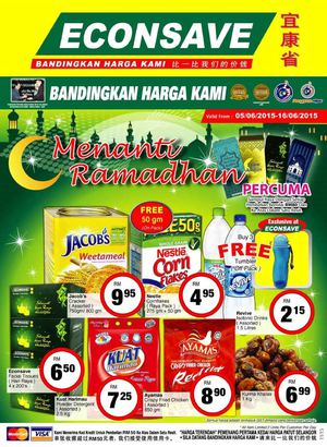 Pre Ramadhan Special Promotion At Econsave Valid From 5 16 June 201568156 68156