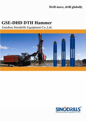 Sinodrills Gse Dhd Dth Hammers