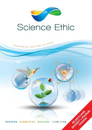 Catalogue Science Ethic 2015 2016