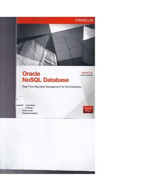 Oracle No Sql Database Real Time Big Data Managment For The Enterprise