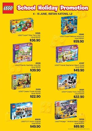 Lego School Holiday Promotion At Isetan Katong Offers Valid From June 4 15 201568192 68192