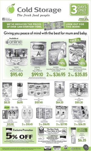 3 Days Baby Fair At Cold Storage Offers Valid From June 5 7 201568198 68198