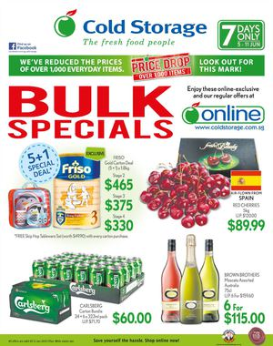 7 Days Bulk Special At Cold Storage Offers Valid From June 5 11 2015 68199