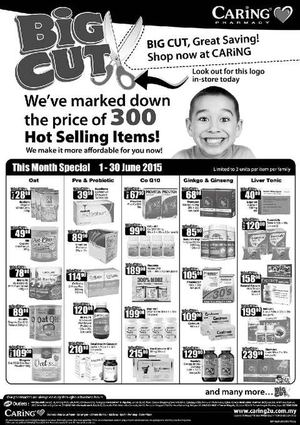 This Month Special At Caring Pharmacy Offers Valid From June 1 30 2015 68205