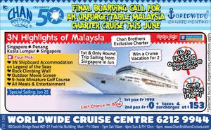 Final Boarding Call For An Unforgettable Cruise This June At Chan Brothers Travel While Seats Last 68213