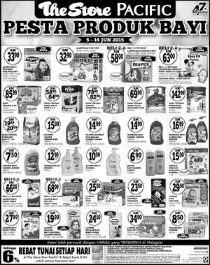 Pesta Produk Bayi At The Store Pacific Offers Valid From June 5 14 201568248 68248