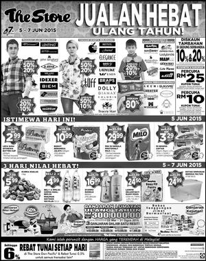 Jualan Hebat Ulang Tahun At The Store Offers Valid From June 5 7 201568250 68250