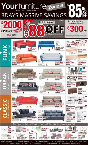 3 Days Massive Savings On Furniture Up To 85 Off At Courts Valid Till June 8 201568274 68274