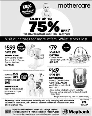 Enjoy Up To 75 Off At Mothercare Offers Valid Till July 26 201568280 68280