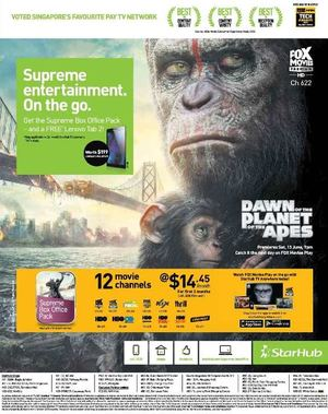 Supreme Entertainment On The Go With Starhub Offer Valid Till June 26 2015 68281