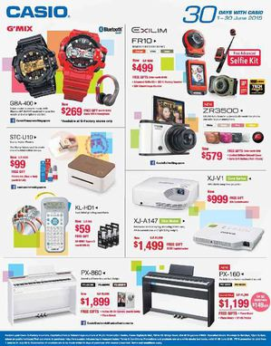 30 Day Promotion At Casio Advertised Offers Are Valid From June 1 30 2015 68287
