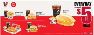 Everyday So Good With 5 Meals At Kfc Valid While Stocks Last68290 68290