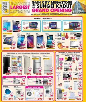Gain City Grand Opening At Sungei Kadut Offers Valid While Stocks Last68278 68278