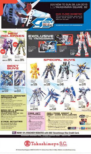 New Gundam Collectibles Exclusive At Takashimaya Offers Valid From Now Till June 28 201568301 68301