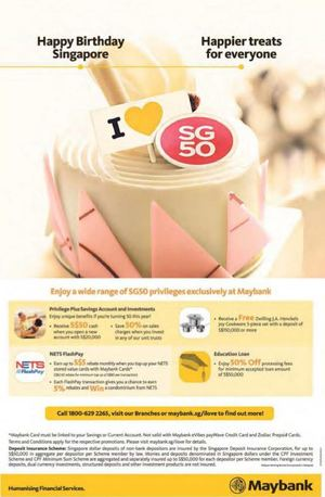 Enjoy A Wide Range Of Sg50 Privileges Exclusive With Maybank Cards For A Limited Period Only 68304