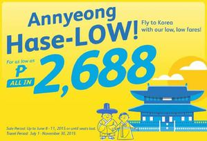 Annyeong Hase Low Book For As Low As P2688 With Cebu Pacific Book From June 8 11 201568334 68334