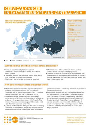 CERVICAL CANCER IN EASTERN EUROPE AND CENTRAL ASIA