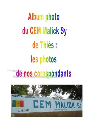 Album Photo Cem Malick Sy