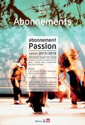Abonnement 2015/2016  Passion