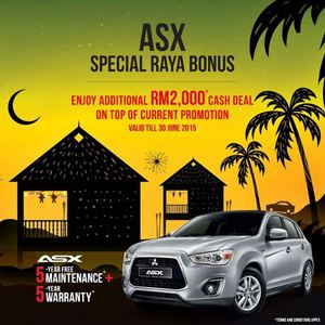 Enjoy Asx Special Raya Bonus At Mitsubishi Motors Valid Until 30 June 201568340 68340