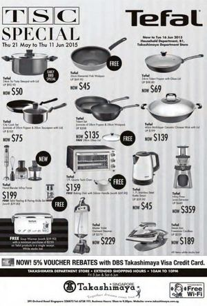 Tefal Promotion At Takashimaya Offers Valid From Now Till June 16 201568376 68376