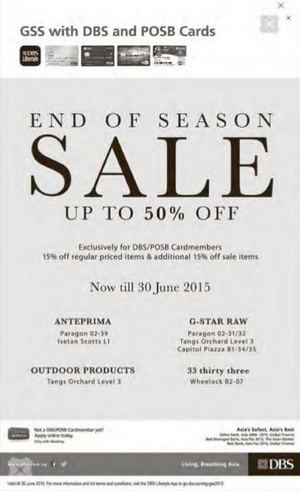 End Of Season Sale Up To 50 Off Exclusively For Dbsposb Cardmembers Till June 30 201568380 68380
