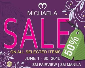 Enjoy 50 Off On All Selected Items At Michaela Valid Until June 30 201568397 68397