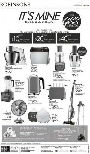 Purchase With Purchase On Home Kitchen Appliances At Robinsons Offer Valid While Stocks Last68367 68367