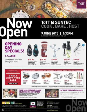 Tott Opening Specials At Sutec Offers Valid From June 9 14 2015 Unless Otherwise Stated 68412