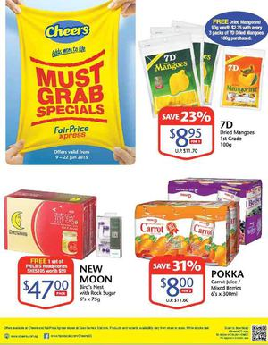 Must Grab Specials At Cheers Fairprice Xpress Offer Valid From Now Till June 22 2015 68407