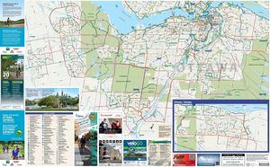 Calamo Carte du rseau cyclable OttawaGatineau Cycling Map