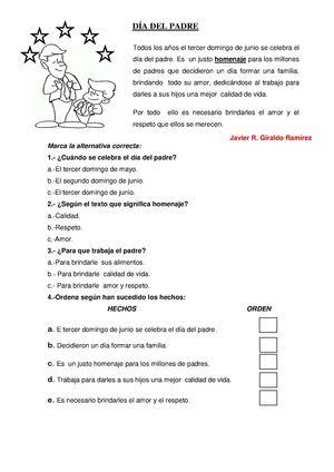Calaméo - FICHA DE COMPRENSION LECTORA POR EL DIA DEL PADRE PARA ...