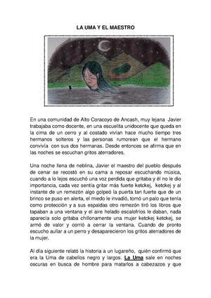 Calaméo - FICHA DE COMPRENSION LECTORA : EL UMA Y EL MAESTRO PARA ...