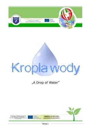 A story of a water drops - Historia  kropli wody