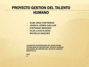 Power Point PROYECTO GTH