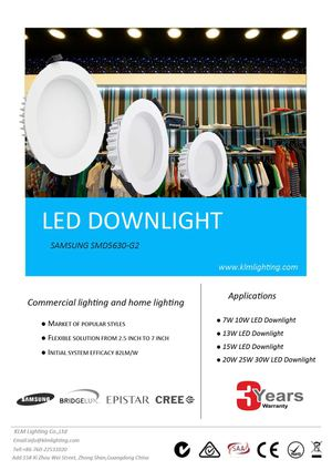 IP44 Led Downlight SMD5630 Series