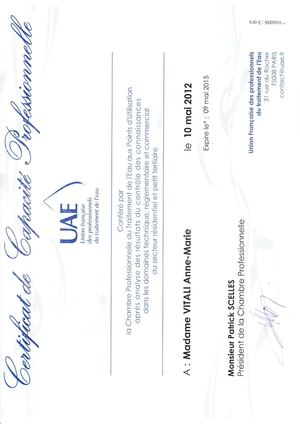 Page 2 Certificat