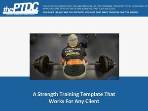 A Periodization Strength Training Template For Any Client