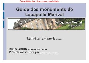 Guide Des Monuments Dates à Revoir
