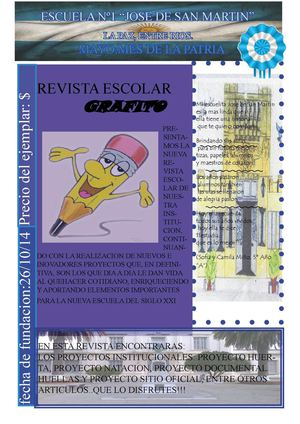 "REVISTA ESCOLAR: ""GRAFITO"""