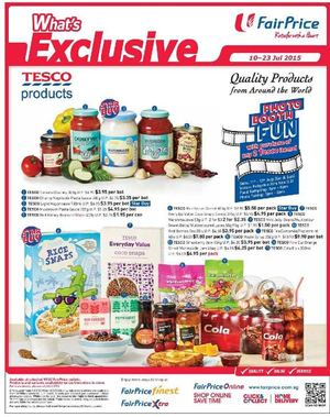 Tesco Products Available At Fairprice Offers Valid From July 10 23 2015 69669